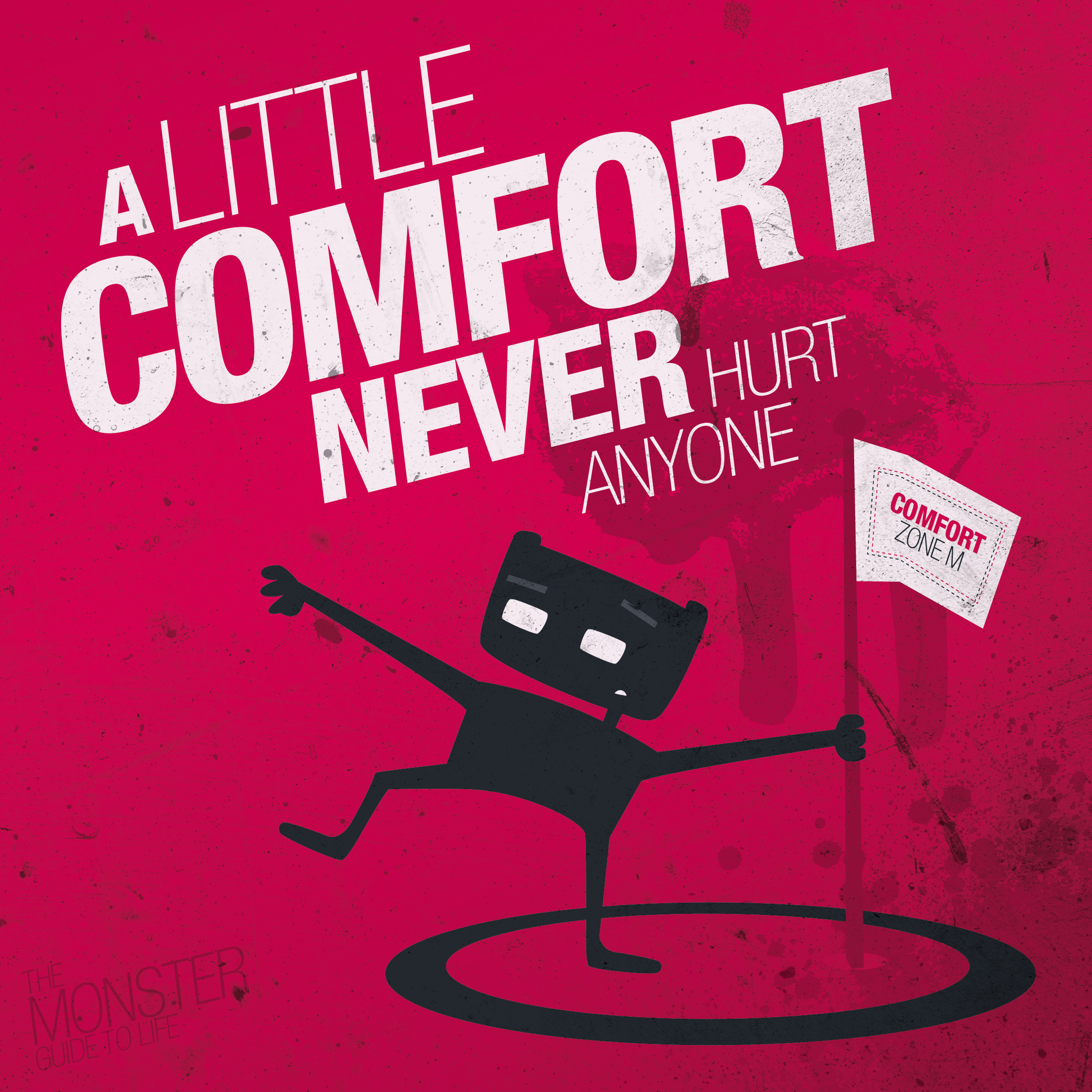A little comfort never hurt anyone illustration